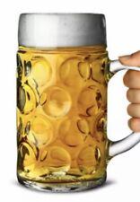 More details for box of 6 uk beer stein glass 1.3l(2 pints) dimpled beer mug tankard ukca