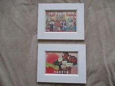 La Cina comunista RIVOLUZIONE CULTURALE ART CARTOLINE incorniciato x 2