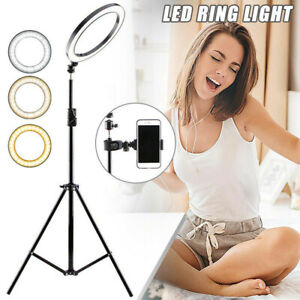 16CM LED Ring Light Lamp Selfie PhoneStudio Tripod Stand Photo Video Dimmable