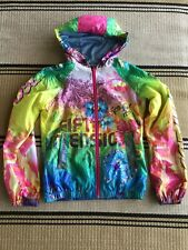 Diesel 55DSL Women's Hooded Jacket Windbreaker Floral SZ S Small Hippy Boho