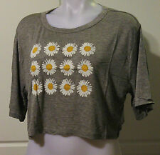 Alloy Cropped Daisy Heather Tee - size XL