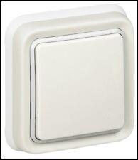 Legrand Sagane Plexo Blanc,Etanche,Poussoir Complet,Prêt à Poser,à Vis,Griffes