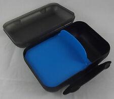 Tupperware A 136 Lunchbox Frühstücksdose Box Dose Büchse Schwarz / Blau Neu OVP