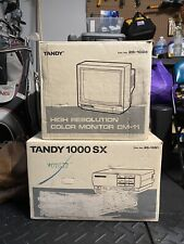 Tandy 1000 SX Vintage Personal Computer, Monitor Keyboard WITH BOX Super RARE