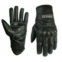 WFX Leather Best Knuckle protection Summer Motorcycle Motorbike Gloves