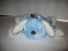 Carters Flat Floppy Blue White Puppy Dog Brown Polka Dot Ribbon Plush 10""