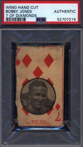 W560 Bobby Jones Golf 7 Of Diamonds PSA Authentic