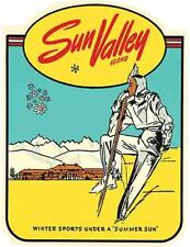 Sun Valley Idaho  skiing   Vintage Style  Travel Decal Sticker