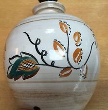 VINTAGE 1950-60'S HANDMADE STUDIO STONEWARE POTTERY LAMP BASE - RE WIRED