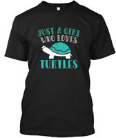 Just A Girl Who Loves Turtles S - Hanes Tagless Tee T-Shirt