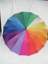 Shelta Womens Long Rain Sun Umbrella - 1638 Rainbow