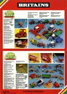 BRITAINS TOYS FARM World of Models Vehicles Tractor Poster Brochure Catalogue A3