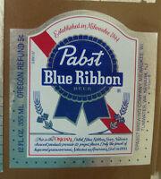 VINTAGE AMERICAN BEER LABEL - PABST BREWERY, BLUE RIBBON BEER 12 FL OZ #13