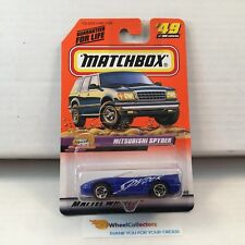 Mitsubishi Spyder #49 * Blue* Matchbox * HB4