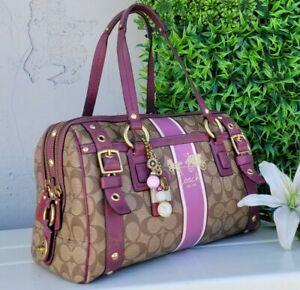 Coach 11564 heritage DBL ZIP signature barrel satchel purse handbag tote LTD ED
