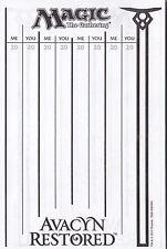 MTG Magic the Gathering Lifepad Score Sheet Life Counter - 25 sheets - You Pick