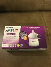 New listing Philips Avent Package Of Three (3) Four Ounce Wide-Neck Bottles