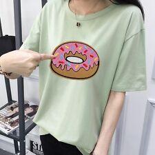 2* Stickerei Aufbügler Aufnäher Flicken Bügelflicken Nähen Patch Donuts Neu
