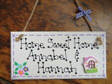 Personalised Home Sweet Home Plaque House Warming Christmas Gift Present Sign