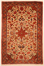 Beige 3' x 5' Heriz Rug Hand Knotted Persian Rug