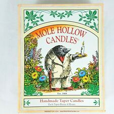 Mole Hollow 12 Taper Candles Handmade 6 INCH GREEN Smokeless, Dripless