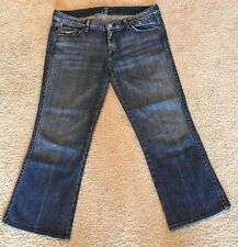 7 For All Mankind Crop A Pocket Jeans Capri Size 31 33x24 Women Ladies