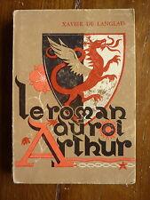 le roman du roi ARTHUR 2 volumes PERCEVAL / MERLIN Table ronde - ed. PIAZZA 1920