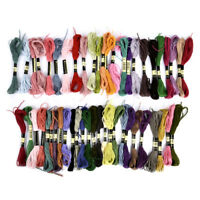 Multi Colors 50 Cotton Cross Floss Stitch Thread Embroidery Sewing Skeins Lots