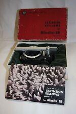 Minolta SR Extension Bellows Model 1 Chiyoda Kogaku with Manual Rare Boxed!!
