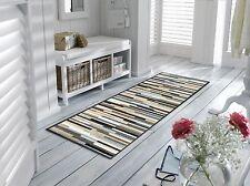 wash+dry Teppich waschbar Fußmatte Läufer 60 x 180 cm Mikado Stripes nature