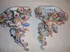 New listing Antique Porcelain Meissen Rosenthal Dresden Cherub Putti Wall Bracket Shelf