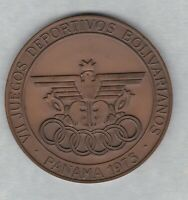 1973 PANAMA BOLIVARIAN GAMES BRONZE MEDAL IN NEAR MINT CONDITION.