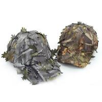 Mens 3D Leaf Baseball Cap Ghillie Hat Hunting Shooting Camo Headwear
