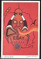 JACKSON BEARDY 1944 - 1984 Ojibway artist  Love of Birds, new old stock art card