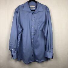 Michael Kors Dress Shirt Long Sleeve Button Down Blue Mens Size 2XL  17 34/35