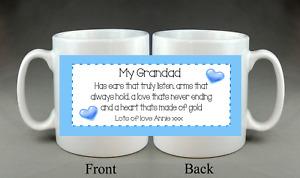 Beautiful Personalised Mug Dad Daddy Stepdad Grandad Brother Uncle Gift Present