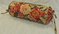 Neck Roll Pillow made w/ Ralph Lauren Hydrangea Floral Cotton Fabric N w/ cord