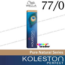 "Wella Koleston Perfect Permanent Hair Color Dye 60g Pure Naturals "" 77/0 """
