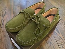 550$ Bally Green Dramer Suede Driver Size US 10