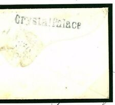 901b GB POSTMARK RARITY 1858 *Crystal Palace* Cover Early Exhibition Receiver