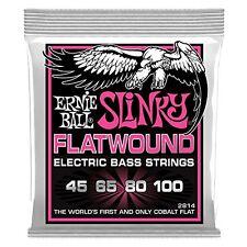 Ernie Ball 2814 Super Slinky Flatwound Elec Bass Guitar Strings gauges 45-100