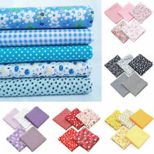 5x Cotton Fabric Printed Cloth Sewing Quilting for Patchwork Needlework 50x50cm