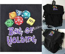 Vintage Canvas Backpack Bag of Holding Magic User D&D Dice d20 Offworld Designs