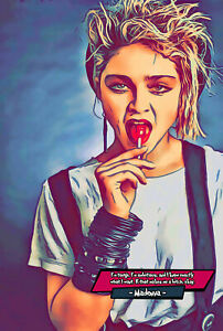 Madonna Comic Icons Art Print (Available In 4 Formats)
