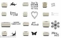 EAST OF INDIA CRAFT RUBBER STAMP WITH LOVE TO FROM DIY HANDMADE CRAFT LABEL GIFT