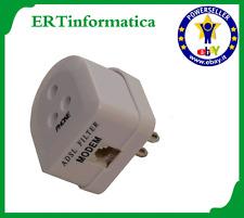 FILTRO TRIPOLARE ADSL RJ11 ADSL INTERNET USCITA MODEM E TELE