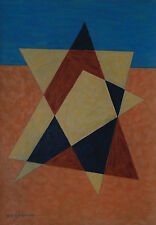 Emil Bisttram New Mexico Modernist   1944 Transcendental Geometric Abstraction