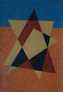 Emil Bisttram New Mexico Modernist   1944 Transcendental Geometric Abstraction