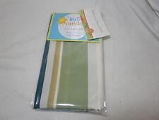 The Indoor Outdoor S/ 4 Napkins - Seneca Ocean ~ Teal Green Ivory Brown Stripe