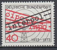 Germany Bund BRD 1973 Mi 759 ** Interpol Polizei Police